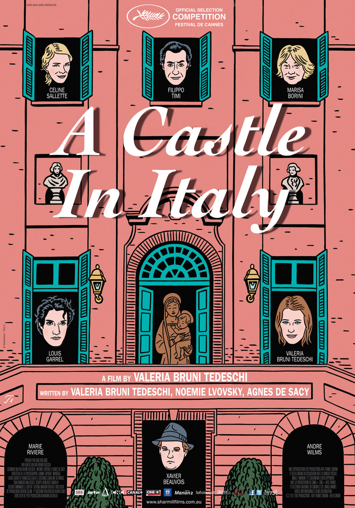 castle in italy poster