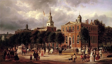 Independence hall by ferdinand richardt