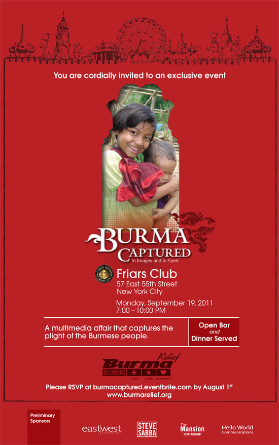 Burma Captured In Images and In Spirit - September 19, 2011 - 7 PM