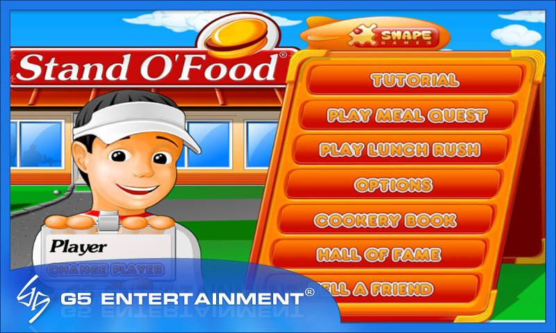 stand o food title screen