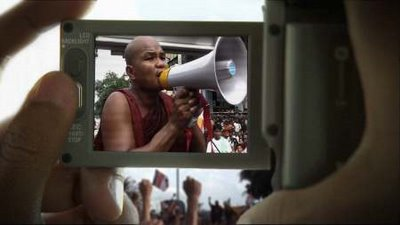 Burmese Monk at the Protest