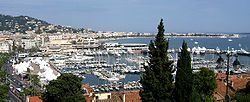 A view of the waterfront in Cannes