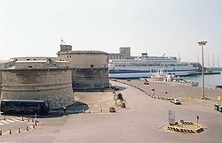 Civitavecchia fort and harbor