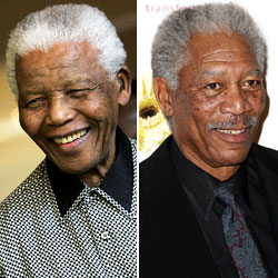 Nelson Mandela/Morgan Freeman